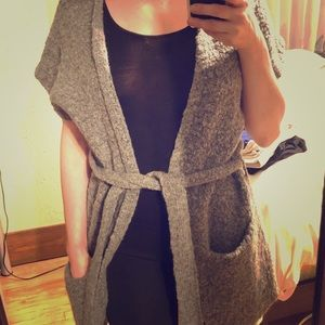 Comfortable & Fashionable gray cardigan!!👌🏼